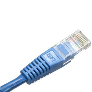 35ft Blue Cat5e Patch Cable With Boot 350Mhz Assembled in USA