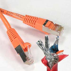 100Ft Cat.6A Patch Cable Molded Orange