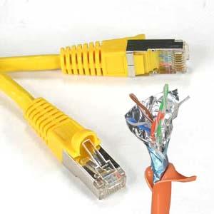 200Ft Cat5e Plenum Ethernet Cable 350 MHz Yellow